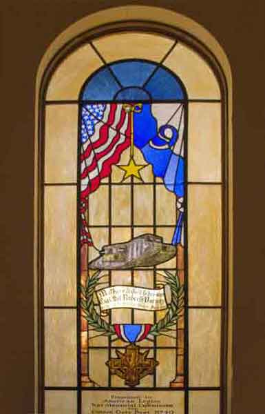 Stain Glass Veterans Building: A Mother's Tibute