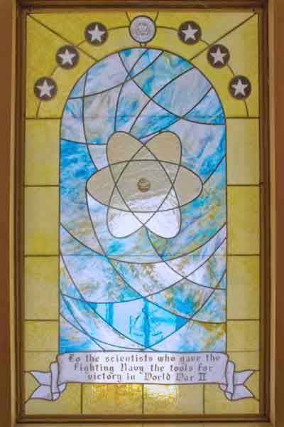 Navy World War II Stained Glass Window