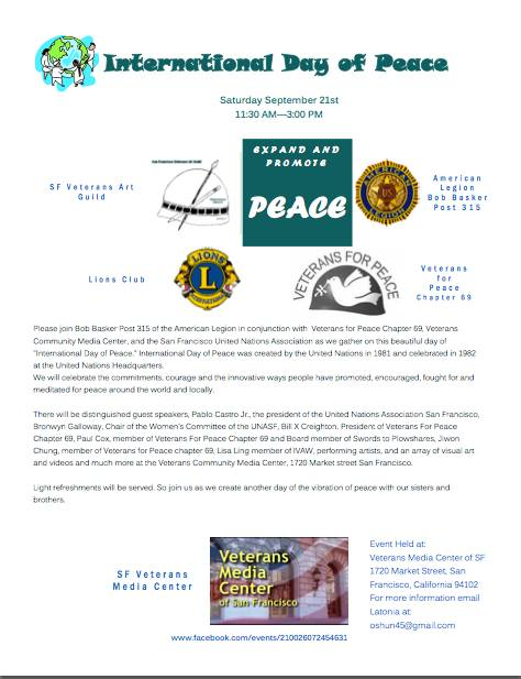 International Day of Peace Flyer