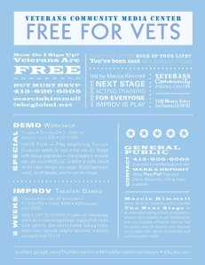 Next Stage Improv Workshops for Vets
