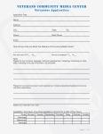 Veterans Community Media Center Volunteer Application page 1